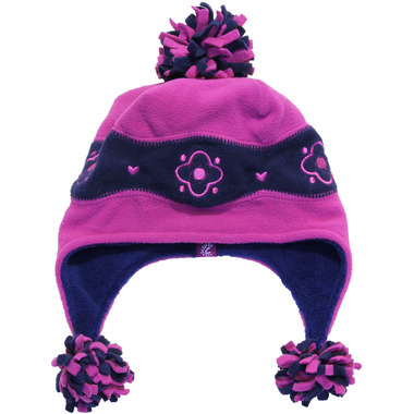 Calikids Two Tone Microfleece Hat Fuschia & Navy