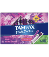 Tampax Pocket Radiant Compact Tampons Super Absorbency