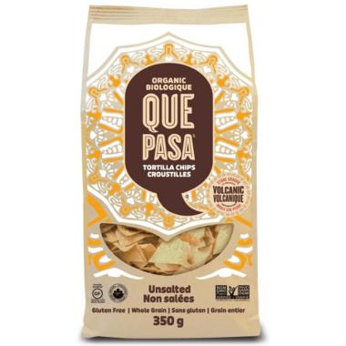 Que Pasa Unsalted Organic Tortilla Chips