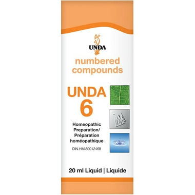 UNDA Numbered Compounds UNDA 6 Homeopathic Preparation