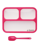 o bnto Bento Box 3 Compartment Pink
