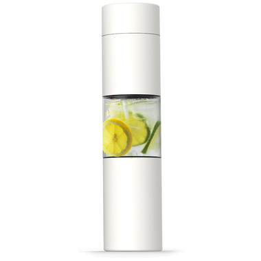 Asobu Flavour U See Insulated Stainless Steel Bottle White