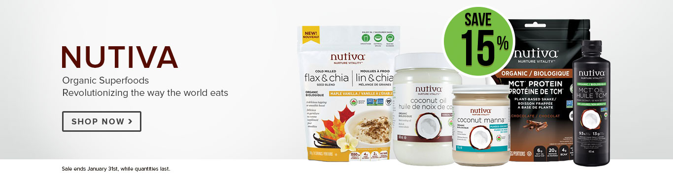 Save 15% on Nutiva