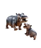 Playmobil Family Fun hippopotame avec bébé