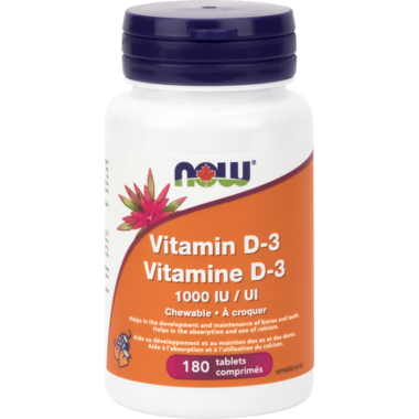 NOW Foods Chewable Vitamin D3 1,000 IU