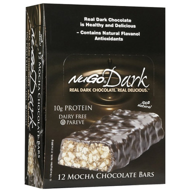 NuGo Dark Mocha Chocolate Bars