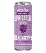 GoodDrink Organic Spritzter Sparkling Blackberry