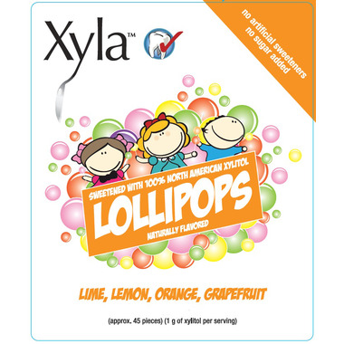 Xyla Natural Flavoured Lollipops