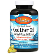 Carlson Norwegian Cod Liver Oil Lightly Lemon Small