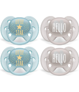 Philips AVENT Ultra Soft Pacifier Little Star and Hello Designs