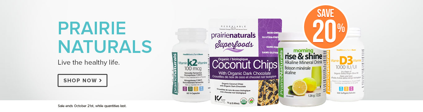 Save 20% on All Prairie Naturals