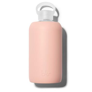 bkr Bellini Glass Water Bottle Opaque Peach