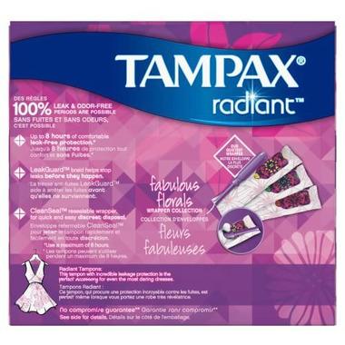 Tampax Radiant Tampons Triplepack