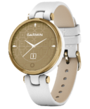 Garmin Lily Classic Edition White with Gold Bezel and Italian Leather Band