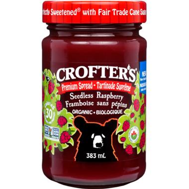 Crofter\'s Organic Seedless Raspberry Premium Spread Family Size
