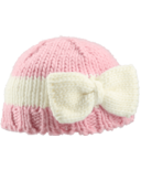 Bedford Road Pink Knitted Hat With Bow