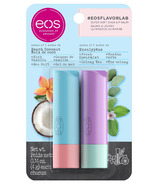 eos Flavor Lab Beach Coconut and Eucalyptus Stick Lip Balm 2 Pack