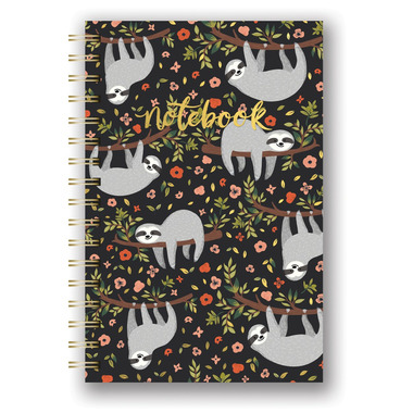 Studio Oh! Spiral Notebook The Sloth Life