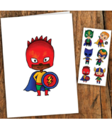 PiCO Temporary Tattoos The Little Superheroes Card & Tattoos