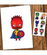 PiCO Temporary Tattoos The Little Superheroes Card & Tattoos