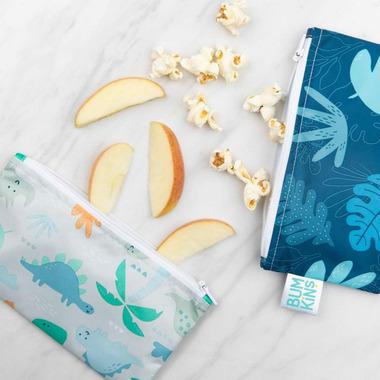 Bumkins Reusable Snack Bags Small Blue Tropic