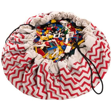 Play & Go Red Zig Zag Toy Storage Bag & Playmat