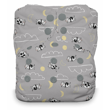 Thirsties Snap Natural One Size All-in-One Diaper Over the Moon
