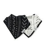 Loulou Lollipop Black & White Mudcloth Bib Set