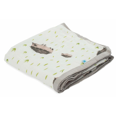 Little Unicorn Deluxe Muslin Quilt Hedgehog