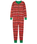 Hatley Union Suit Holiday Stripes