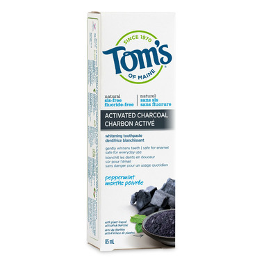 Tom\'s Of Maine Peppermint Activated Charcoal Toothpaste