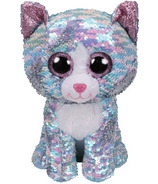Ty Flippables Whimsy the Sequin Blue Cat Medium
