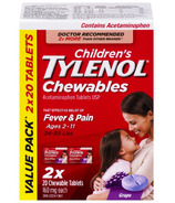 Tylenol Children's Chewable Tablets Grape Bonus Size