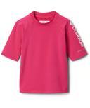 Columbia Sandy Shores Short Sleeve Sunguard Cactus Pink 2T-4T