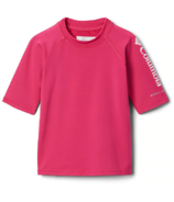 Columbia Sandy Shores Short Sleeve Sunguard Cactus Pink 2T-4T