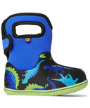 Bogs Baby Waterproof Boots Dinos Electric Blue