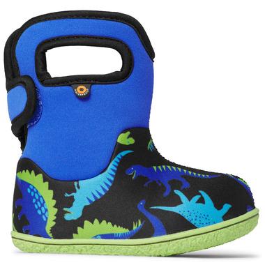Bogs Baby Waterproof Boots Dinos Electric Blue