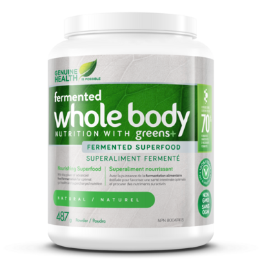 Genuine Health Fermented Whole Body NUTRITION with Greens+ Natural