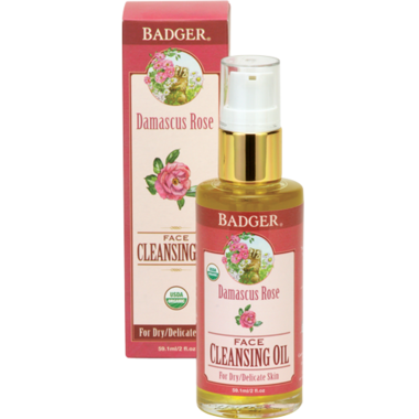 Badger Damascus Rose Face Cleansing Oil For Dry & Delicate Skin