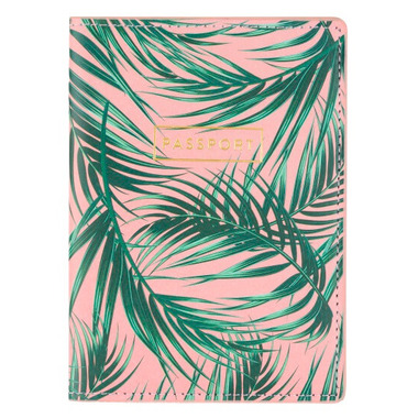 Eccolo Passport Case Palm Print
