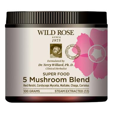 Wild Rose 5 Mushroom Blend Super Food