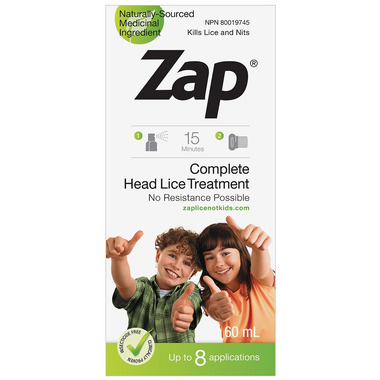 Zap Complete Head Lice Treatment