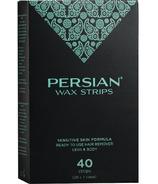 Bandes de cire persane pour la peau sensible Parissa