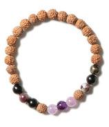 Halfmoon Mala Bracelet Relax & Restore Amethyst Mix