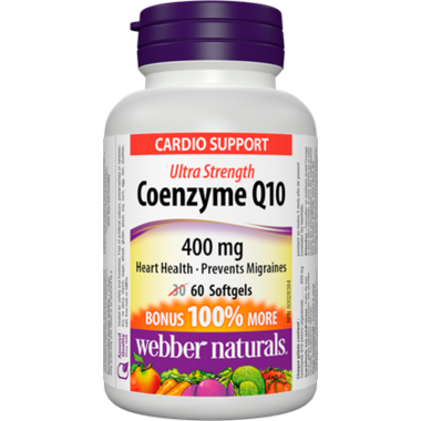 Webber Naturals Coenzyme Q10, Ultra Strength, 400 mg