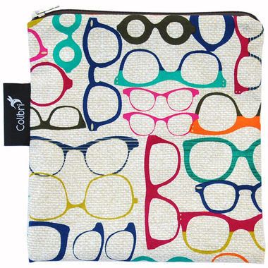 Colibri Reusable Snack Bag in Glasses Pattern