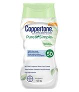 Coppertone Pure & Simple Sensitive Sunscreen Lotion Hypoallergenic SPF 50
