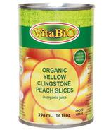 VitaBio Organic Yellow Clingstone Peach Slices