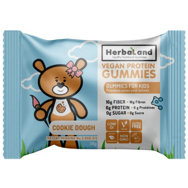 Herbaland Protein Gummies for Kids Cookie Dough