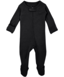 L'oved Baby Organic Footed Zipper Jumpsuit Black